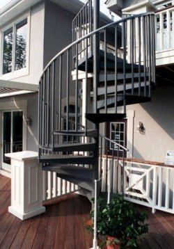 Deck Design with Spiral Stairs by Archadeck