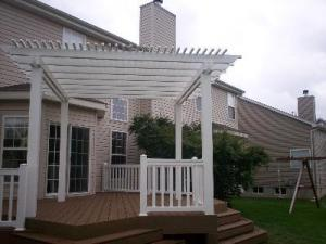 Flared Deck Stair Design, St. Louis Mo, Archadeck