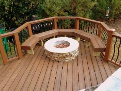Deck stair designs spiral stairs by trex st louis for Recycled decking material