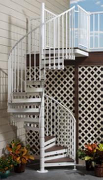Trex Spiral Deck Stairs, photo by Trex