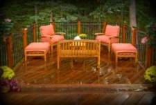Deck Designed and Built by Archadeck, Outdoor Furniture
