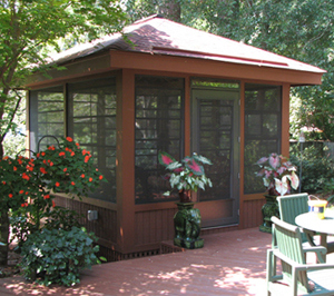 Screened porch ideas for a small backyard st louis for Outdoor screen room ideas