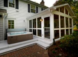 Screened Porch with Spa Deck by Archadeck