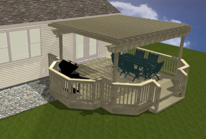 Computerized Deck and Pergola Renderings by Archadeck