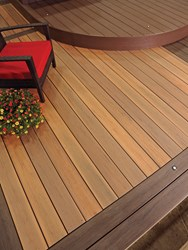 New TimberTech Legacy Decking shown in Tigerwood, photo by TimberTech