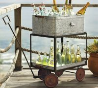 Metal Rolling Wagon Party Bucket, Photo by Pottery Barn