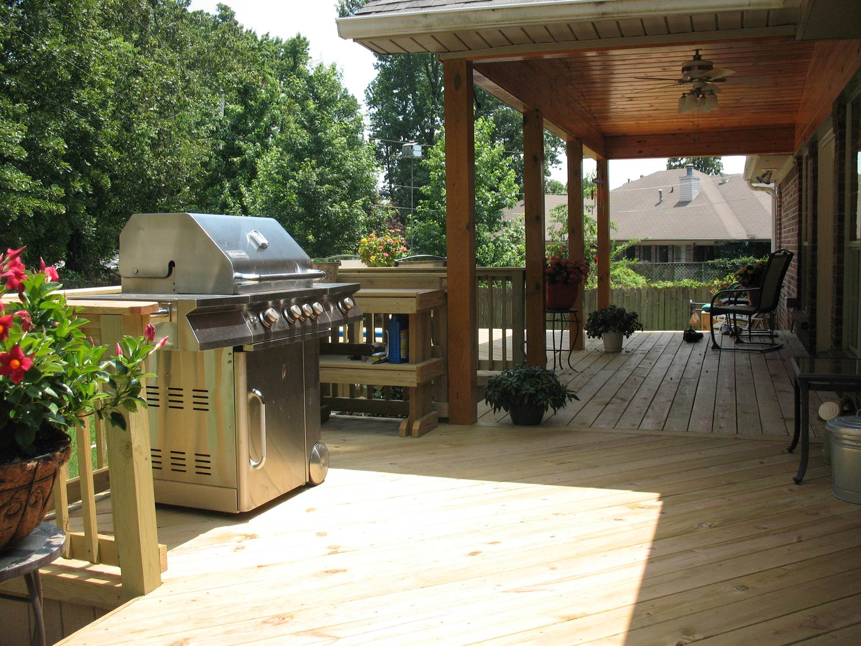 Grill Deck With Covered Porch By Archadeck