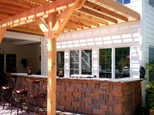 Pergola over Outdoor Kitchen and Dining Area - by Archadeck, St. Louis