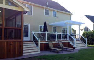 Raised Deck with Screened Patio Enclosure by Archadeck