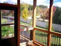 Screened Porch with Attached Grill Deck, St. Louis Mo, by Archadeck