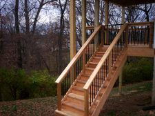 Two Story Decks for Hilly Backyard by Archadeck, St. Louis