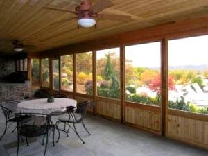 Wood Screen Porch over Patio by Archadeck