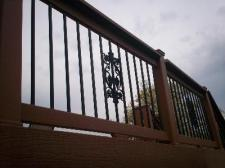 Deck with Centerpiece Balusters by Archadeck in St. Louis