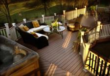 Deck with Level Change, Decorative Rail and Lighting by Archadeck