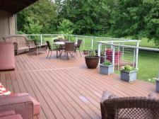 Feeny Cable Railing with TimberTech Terrain Deck by Archadeck