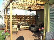 Pergola with Fan and Privacy Fence by Archadeck