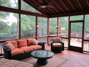 Screened Porch with Deck, Designed and Built by Archadeck