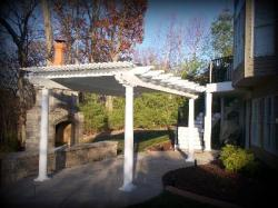 Vinyl Pergola with Solar Panels by Archadeck, St. Louis Mo