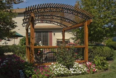 Wood and Metal Garden Pergola by Archadeck - Pergolas St. Louis Mo: Designs Like You've Never Seen Before By