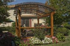 Wood and Metal Garden Pergola by Archadeck