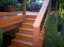 Wood Deck with Metal Balusters, Project by Archadeck, St. Louis Mo