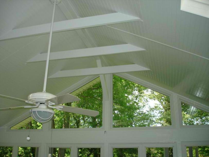 St louis mo screen porch ceiling options by archadeck for Balcony ceiling