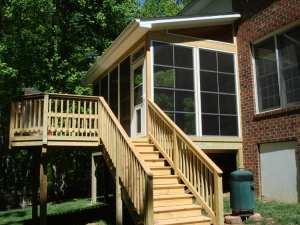 Deck and Screened Porch with Dog Door, by Archadeck