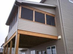 Elevated Screened Porch with Sidewall Connection and Shed Roof by Archadeck, St. Louis Mo