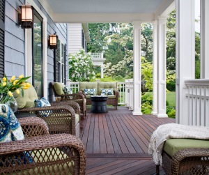 Front Porch with Brazilian Hardwood Floor by Archadeck
