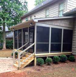 St louis mo screen porch roofing options by archadeck for Shed roof porch designs