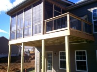 Screened Porch and Deck for New Home Construction in West County, by Archadeck in St. Louis