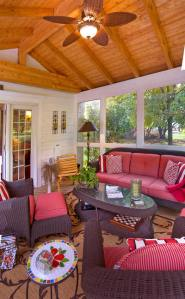 Screened Porch with Cathedral Ceiling by Archadeck