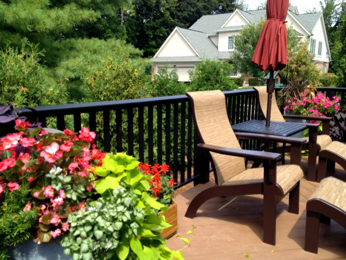 ideas for decorating a deck with plants st louis decks
