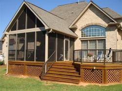 Deck and Screened Porch with Lattice Finish, by Archadeck