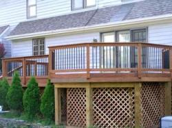 Wood Deck and Lattice by Archadeck