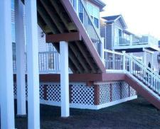 Large Multilevel Deck with Lattice Framework by Archadeck in St. Louis