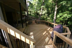 Large PT Wood Deck by Archadeck