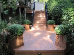Deck by Archadeck with Planters