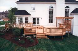 Pressure Treated Wood Deck by Archadeck