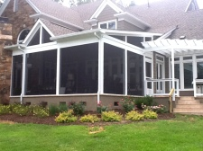 Screen Porch by Archadeck, Stucco Skirt Finish and Landscaping