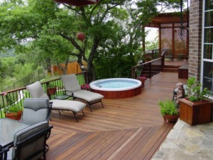 Contempoary Deck with Pergola by Archadeck