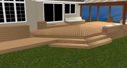Contemporary Deck Design by Archadeck