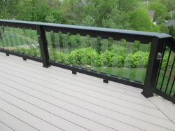Deck with Glass Balusters by Archadeck, St. Louis Mo