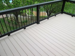 Deck with Partial Glass Baluster Railing by Archadeck, St. Louis Mo