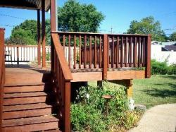 Ipe Hardwood Deck for Historic Home in St. Louis  Mo, by Archadeck