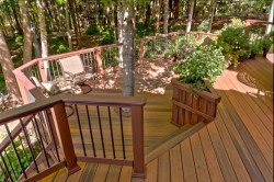 Modern Rustic Deck by Archadeck, Low Maintenance Composite and Metal Balusters