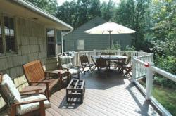 Partial Glass Rails for Custom Deck by Archadeck