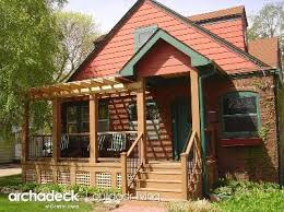 Perfect Example of Bungalow Porch, Deck and Pergola Addition by Archadeck in Iowa