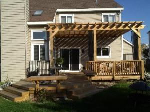 Deck Design with Mosquito Curtains by Archadeck, Chicago