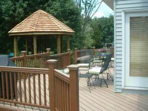 Deck with Open Gazebo Roof Structure by Archadeck